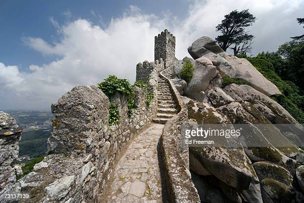 Steps and wall on Castelo dos Mouros, Sintra, Portugal