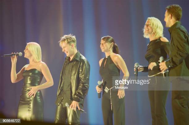 Steps appearing at Showtime at The Millennium Stadium Cardiff Wales United Kingdom Left to right are Claire Richards Ian 'H' Watkins Lisa ScottLee...