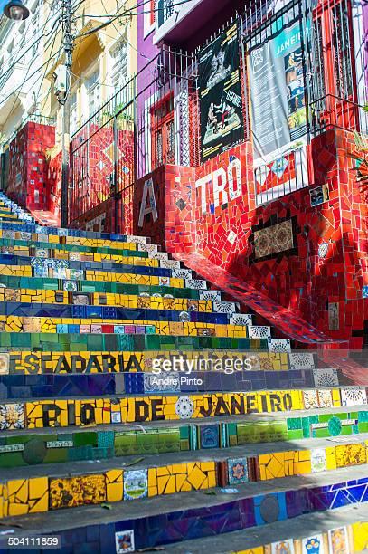 CONTENT] Steps decorated by artist Escadaria Selaron Rio de Janeiro