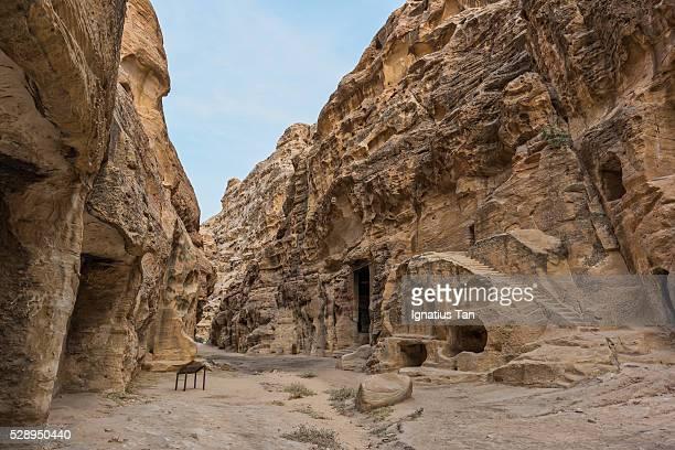steps in little petra (al beidha, siq al-barid), jordan - ignatius tan stock photos and pictures
