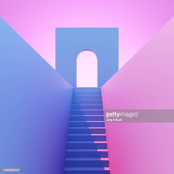 steps leading to an arch - boog architectonisch element stockfoto's en -beelden