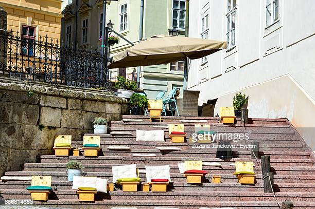 steps leading to building - zuzana janekova stock pictures, royalty-free photos & images