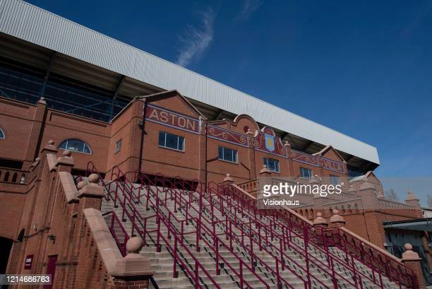 Steps leading up to the Holte End of Villa Park home of Aston Villa FC on March 23 2020 in Birmingham United Kingdom