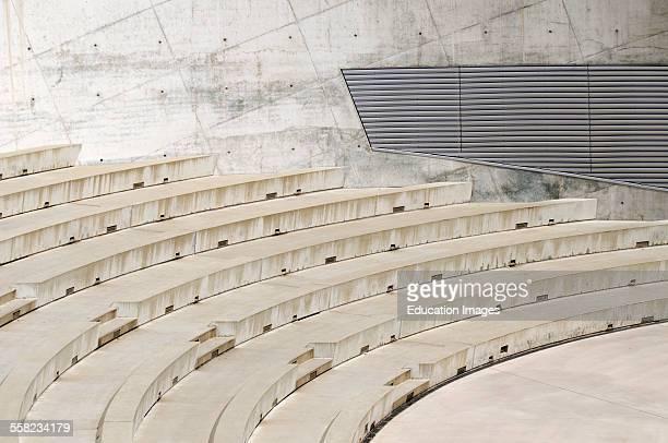 Steps of Amphitheater at Mercedes-Benz Museum, Stuttgart, Germany