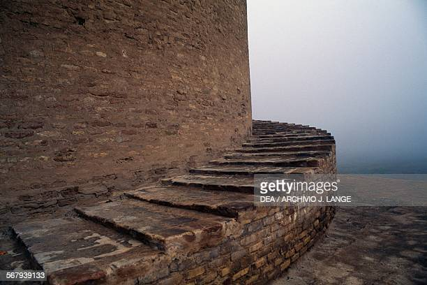 Steps of the Malwiya minaret of the Great mosque of Samarra Iraq 9th century
