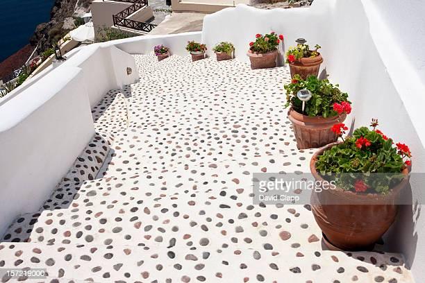 Steps, Oia, in Santorini, Greece
