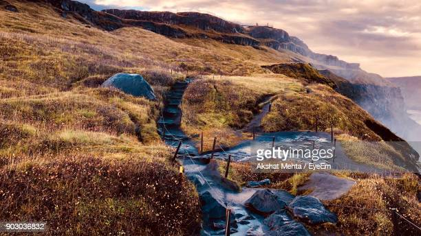 Steps On Mountains Against Sky