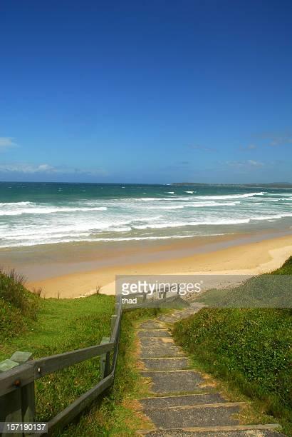 Steps to a Deserted Beach