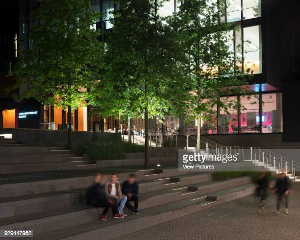Steps to Entrance Piazza John Henry Brookes Building Oxford Brookes University Oxford United Kingdom Architect Design Engine Architects Ltd with...