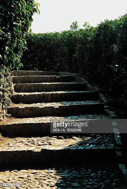 Steps to the Hill of Infinity or Mount Tabor Recanati Marche Italy