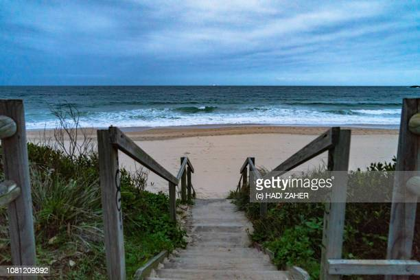 steps to wollongong city beach | new south wales | australia - wollongong stock pictures, royalty-free photos & images