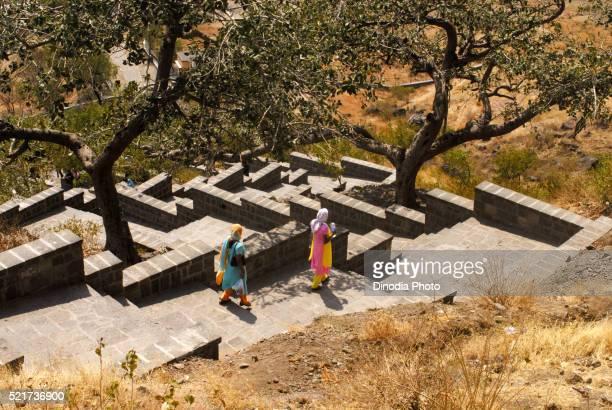 Steps Towards Shri Girijatmaj Temple and Buddhist Caves Lenyadri Junnar Maharashtra