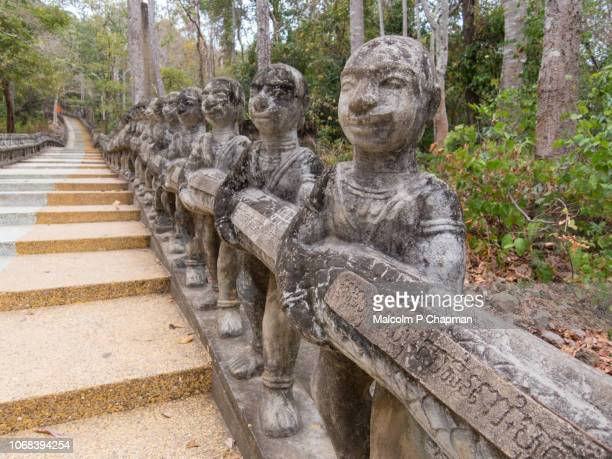 """steps up phnom santuk, kampong thom, cambodia - cambodia """"malcolm p chapman"""" or """"malcolm chapman"""" stock pictures, royalty-free photos & images"""