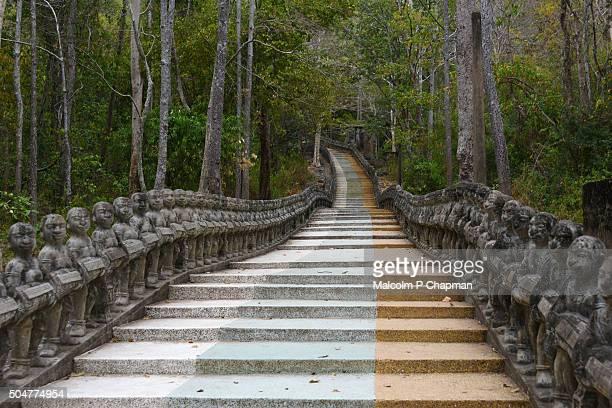 Steps up Phnom Santuk, Kampong Thom, Cambodia