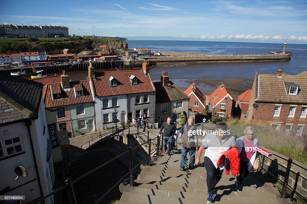 199 Steps Up To The East Cliff. Once These Stairs Used To Be Wooden And
