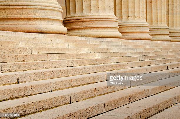 steps with a row of columns - ogphoto stock photos and pictures