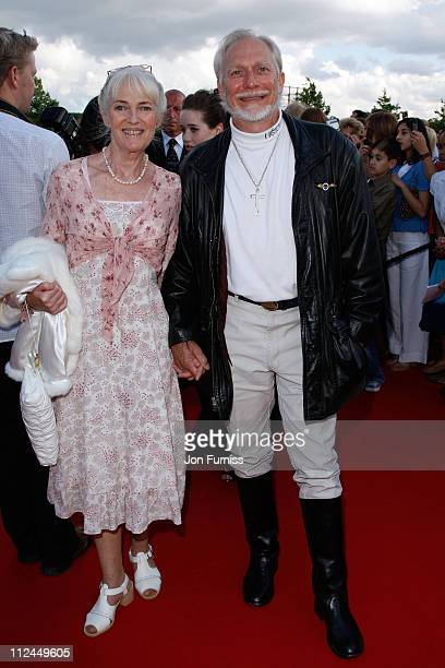 Stepson of CS Lewis Douglas Gresham and guest arrives at the UK Premiere of The Chronicles of Narnia Prince Caspian at the O2 Dome in North Greenwich...