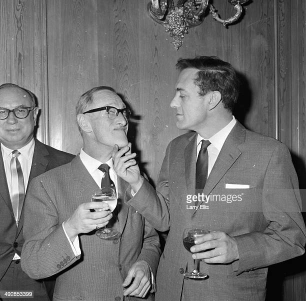 'Steptoe and Son' actors Wilfrid Brambell and Harry H Corbett attending the Variety Club of Britain Awards London 1964