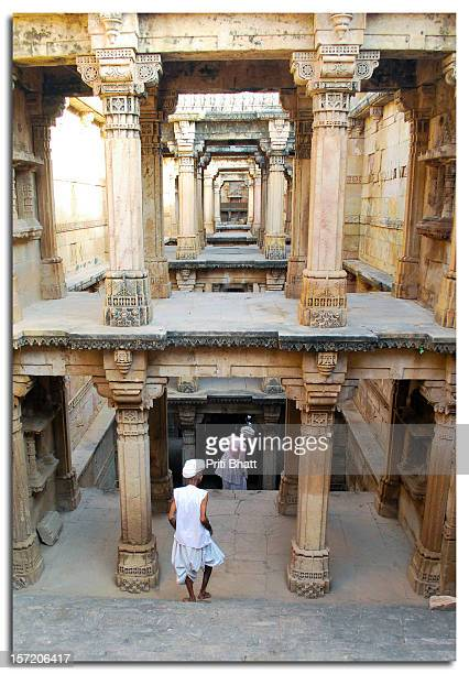 stepwell of ambapur - stepwell stock photos and pictures