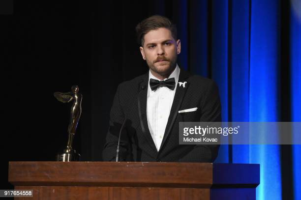 Stereo D VR Supervisor Nick Brown accepts the Lumiere Award for Best 2D to 3D Conversion onstage at the Advanced Imaging Society 2018 Lumiere Awards...