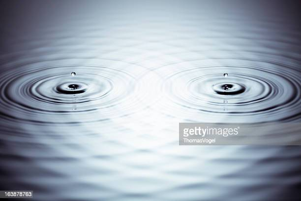 Stereo - Drop Water Wave Abstract Bizarre Background Wallpaper