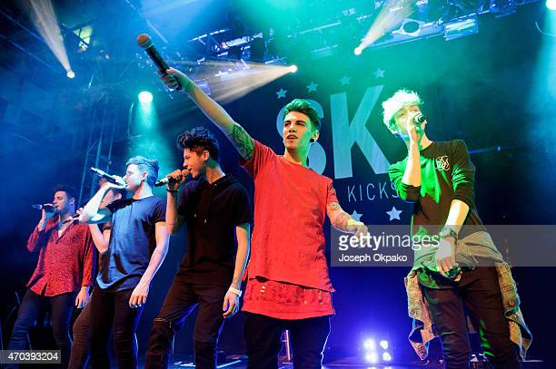 Stereo Kicks perform at O2 Academy Islington on April 19 2015 in London United Kingdom