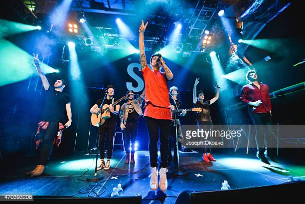 Stereo Kicks performs at O2 Academy Islington on April 19 2015 in London United Kingdom