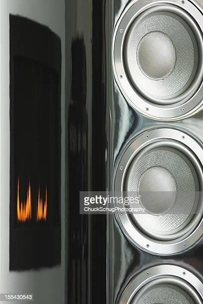 Stereo Music Speaker Fireplace Decor