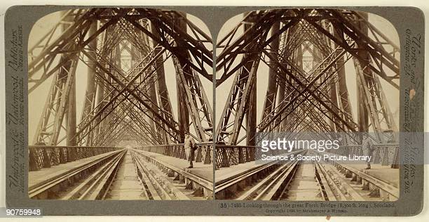 Stereocard which when placed in a viewer gave a 3D image Before the Firth of Forth railway bridge was completed in 1889 passengers were transported...