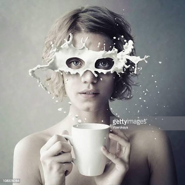 stereomilk - art stockfoto's en -beelden