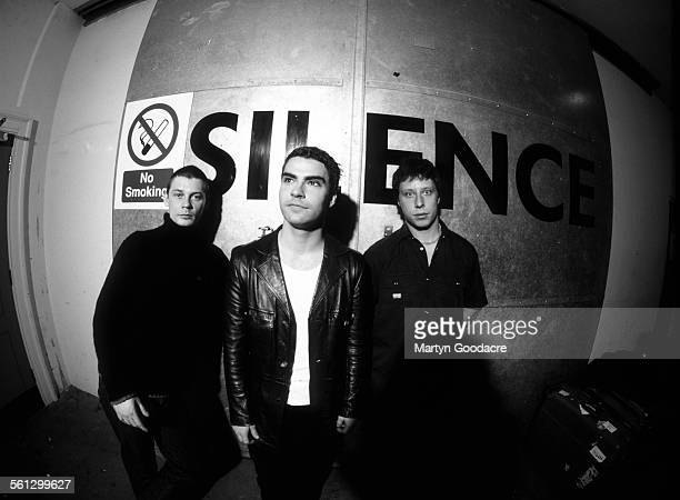Stereophonics backstage at Manchester Apollo LR Richard Jones Kelly Jones Stuart Cable United Kingdom 1999