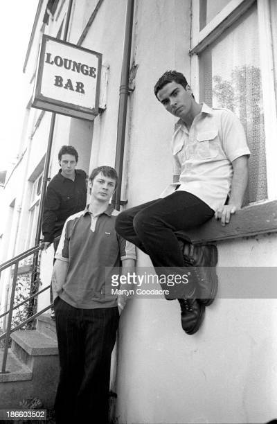 Stereophonics group portraits in their home town of Cwmaman in Cynon Valley Wales left to right Stuart Cable Richard Jones and Kelly Jones United...
