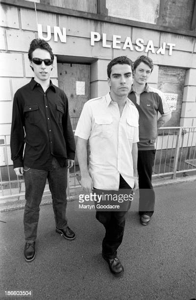 Stereophonics group portraits in their home town of Cwmaman in Cynon Valley Wales left to right Stuart Cable Kelly Jones and Richard Jones United...