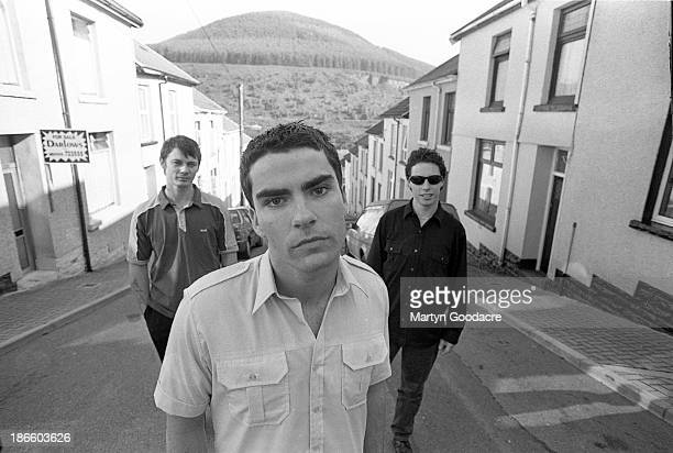 Stereophonics group portraits in their home town of Cwmaman in Cynon Valley Wales left to right Richard Jones Kelly Jones and Stuart Cable United...