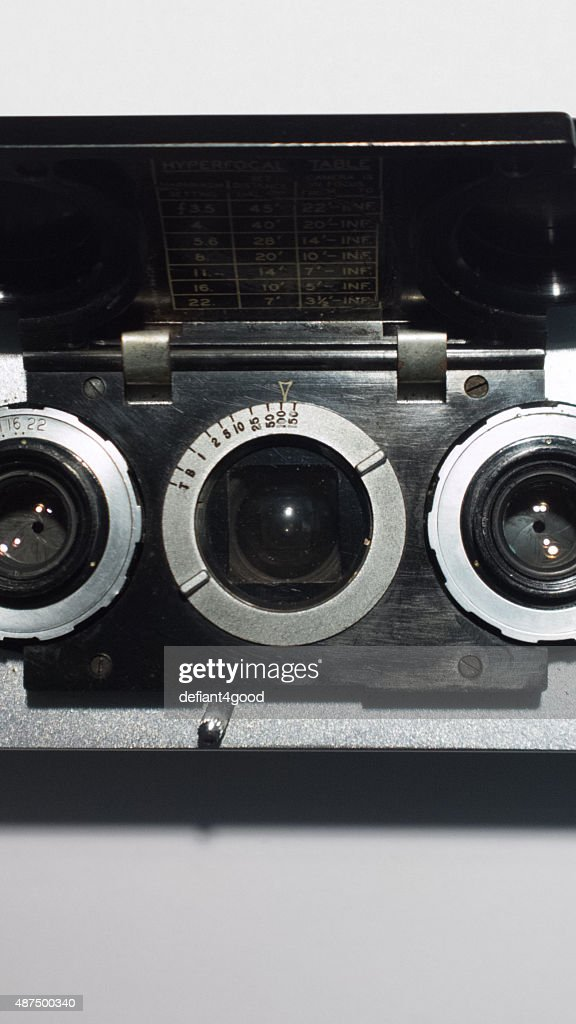 Stereoscopic Camera Viewfinder Lens Stock Photo - Getty Images
