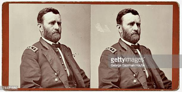 Stereoscopic portrait of American military officer General Ulysses S Grant 1860s
