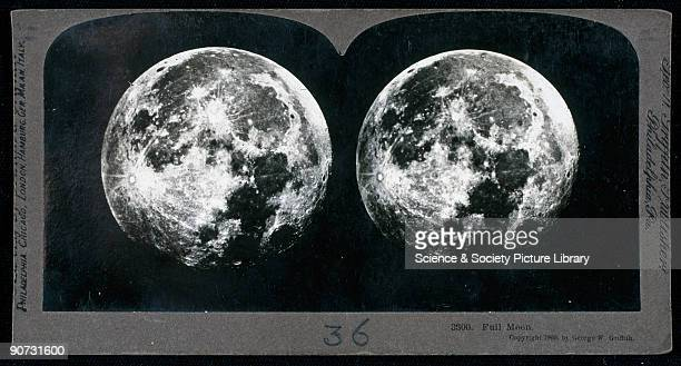 Stereoscopic view of the full Moon by George W Griffith Silver gelatin print mounted on card Charles Wheatstone demonstrated his stereoscope to the...