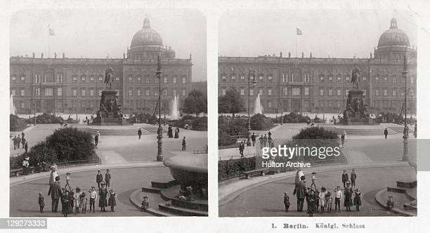 A stereoscopic view of the Stadtschloss Berlin 1906