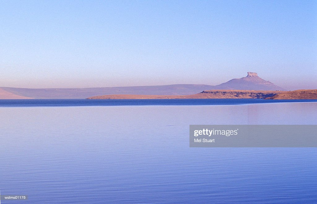 Sterkfontein Dam Nature Reserve, near R74 to Harrismith, Free State, Drakensberg, South Africa : Stock Photo