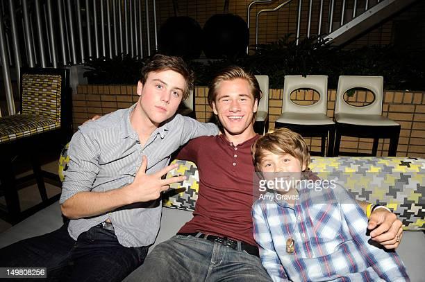 Sterling Beaumon Luke Benward and Tarik Ellinger attend the Surprise Party for Caitlin Beadles and the Launch of Caitlin's Foundation Caitlin's Vine...
