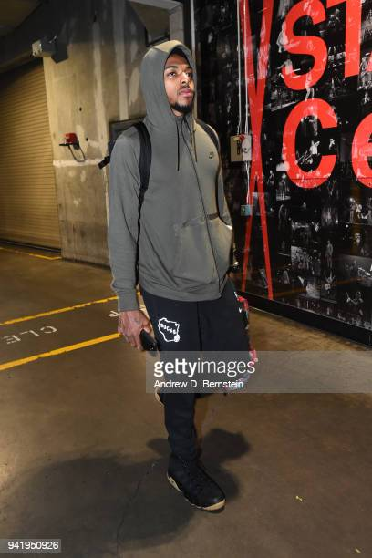 Sterling Brown of the Milwaukee Bucks arrives to the arena prior to the game against the Los Angeles Lakers on March 30 2018 at STAPLES Center in Los...