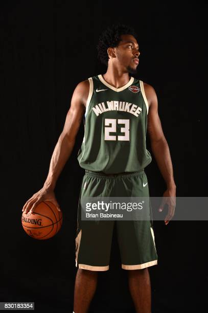 Sterling Brown of the Milwaukee Bucks poses for a photo during the 2017 NBA Rookie Photo Shoot at MSG training center on August 11 2017 in Tarrytown...
