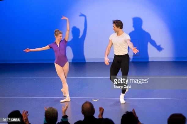 Sterling Hyltin and Adrian DanchigWaring perform onstage during Jacques d'Amboise's Art Nest Balanchine's Guys on February 5 2018 in New York City