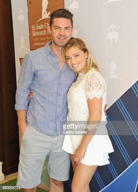 Sterling Jones and Lauren Sivan at the Brooks Brothers Beverly Hills summer camp party benefitting St Jude Children's Research Hospital at Brooks...