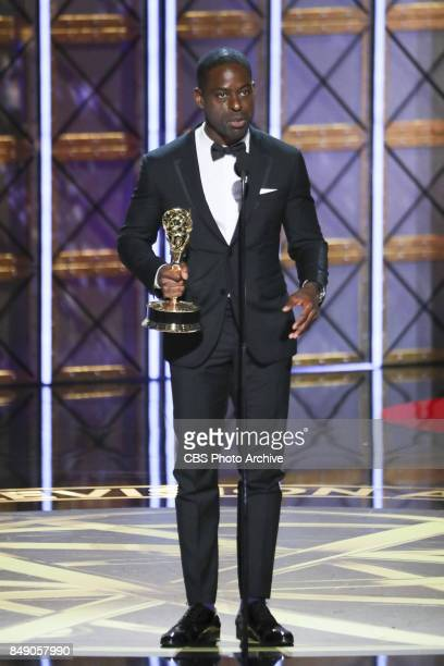 Sterling K Brown accepts the Emmy Award for Outstanding Lead Actor in a Drama Series at the 69TH PRIMETIME EMMY AWARDS LIVE from the Microsoft...