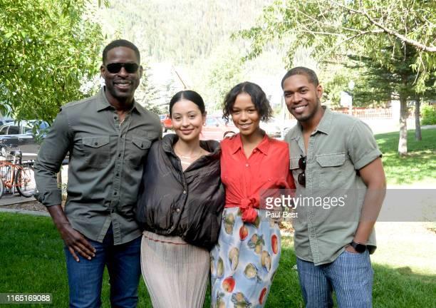Sterling K Brown Alexa Demie Taylor Russell and Kelvin Harrison Jr attend the Telluride Film Festival 2019 on August 31 2019 in Telluride Colorado