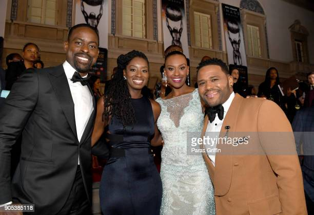 Sterling K Brown Alvina Stewart Ryan Michelle Bathe and Anthony Anderson attend the 49th NAACP Image Awards at Pasadena Civic Auditorium on January...