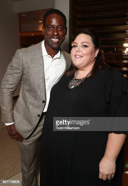 Sterling K Brown and Chrissy Metz attend The Hollywood Reporter and SAGAFTRA Inaugural Emmy Nominees Night presented by American Airlines Breguet and...