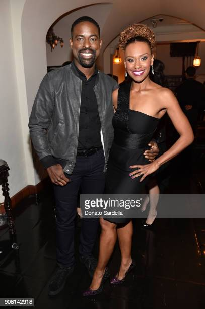 Sterling K Brown and Ryan Michelle Bathe attend Entertainment Weekly's Screen Actors Guild Award Nominees Celebration sponsored by Maybelline New...