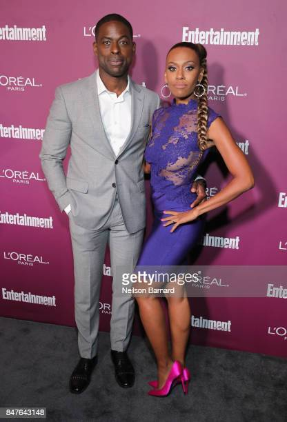 Sterling K. Brown and Ryan Michelle Bathe attend the 2017 Entertainment Weekly Pre-Emmy Party at Sunset Tower on September 15, 2017 in West...